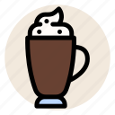 cafe, coffee, cup, drink, hot drink, mocha, mug icon