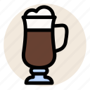 cafe, coffee, cup, drink, hot drink, irish coffee, mug icon