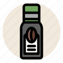cafe, coffee, coffee bean, cold drink, drink, iced coffee icon