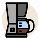 cafe, coffee, coffee machine, coffee maker, coffee pot, drink icon