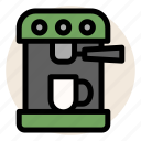 cafe, coffee, coffee machine, coffee maker, cup, drink, mug icon