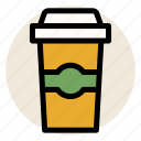 cafe, coffee, coffee cup, cup, drink, hot drink, mug icon