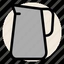 cafe, coffee, dairy, drink, milk, nondairy, pitcher icon