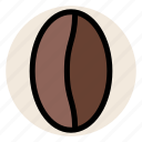 bean, cafe, coffee, coffee bean, drink, hot drink icon