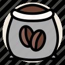 cafe, coffee, coffee bean, coffee sack, drink, sack icon