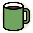 cafe, coffee, cup, drink, hot drink, morning, mug icon