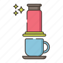 coffee, aeropress, brew icon