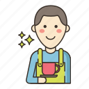 barista, staff, waiter icon