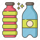 bottle, mineral water, sparkling water, water, water bottle icon