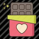 choc, chocolate, chocolate bar, cocoa icon