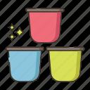 capsules, coffee, coffee capsules, espresso capsules icon