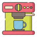 coffee, coffee machine, coffee maker, machine icon