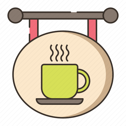 cafe sign, coffee, coffee shop sign, shop, sign icon