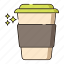 coffee takeaway, coffee to go, paper cup, takeaway cup icon