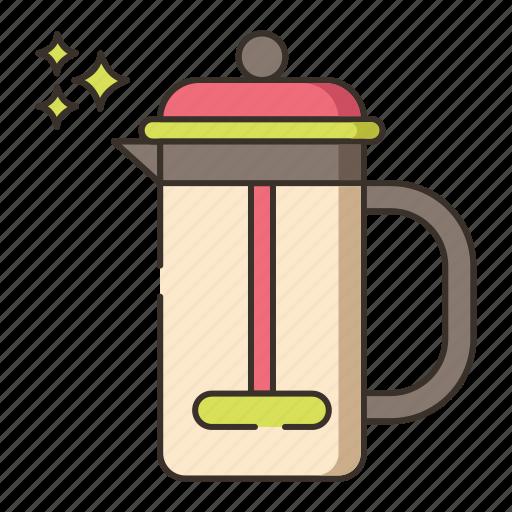 brew, coffee, french press icon