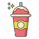 drink, frappe, frappuccino, frozen, ice blended, juice icon