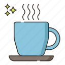 hot beverage, hot chocolate, hot coffee, hot drink icon