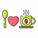 coffee drinker, coffee lover, i love coffee icon