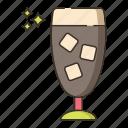 coffee, ice chocolate, ice cocoa, ice coffee, iced icon