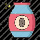coffee, instant coffee, instant, coffee powder icon