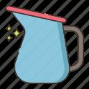 milk, milk pitcher, pitcher icon
