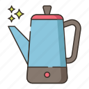 coffee, kettle, percolator icon