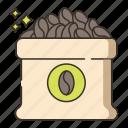 bean sack, beans, coffee, coffee beans, coffee sack icon