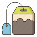 bag, tea, tea bag icon