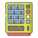 dispenser, machine, vending, vending machine icon