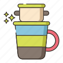 coffee, vietnamese coffee, vietnam coffee, brew icon
