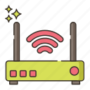 broadband, connection, internet, internet connection, modem, wifi icon