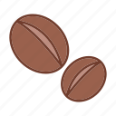 agriculture, caffeine, coffee bean, food, ingredient, seed icon