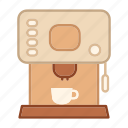 coffee maker, drink, equipment, kitchen, machine, modern icon