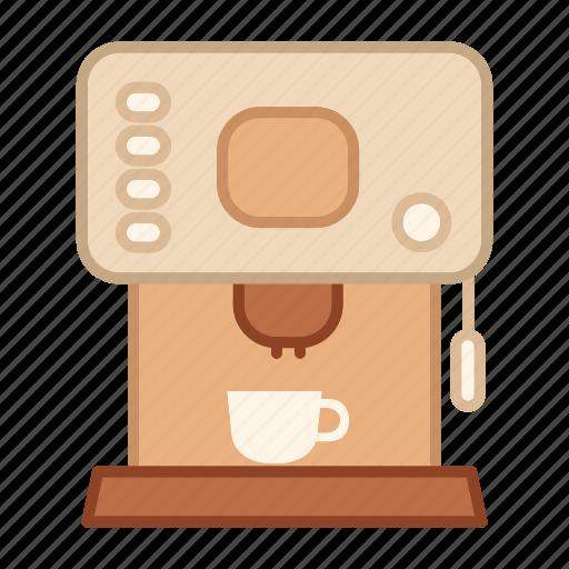 coffee maker, drink, equipment, kitchen, machine, modern icon