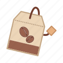 beverage, caffeine, coffee powder, food, ingredient, package icon