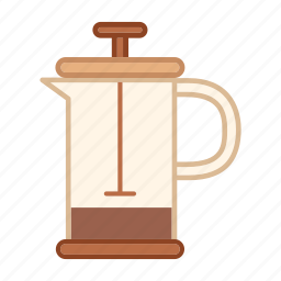 barista, coffee press, drink, equipment, maker, preparation icon