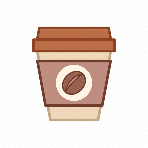 beverage, container, disposable coffee cup, drink, lid, paper, plastic icon