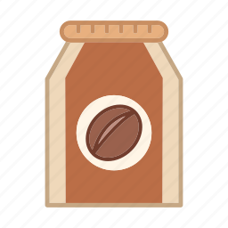 bag, ground coffee package, industrial, instant, package, product icon