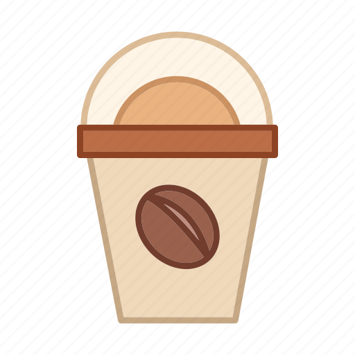 beverage, caffeine, cold, cup, drink, ice coffee, milk icon