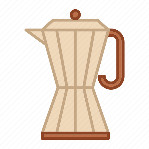 coffee, espresso, hot, maker, metal, moka pot icon