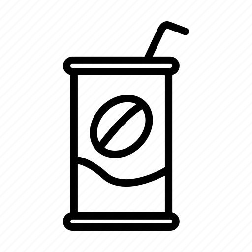 can, canned, canned coffee, coffee, drink, tin icon