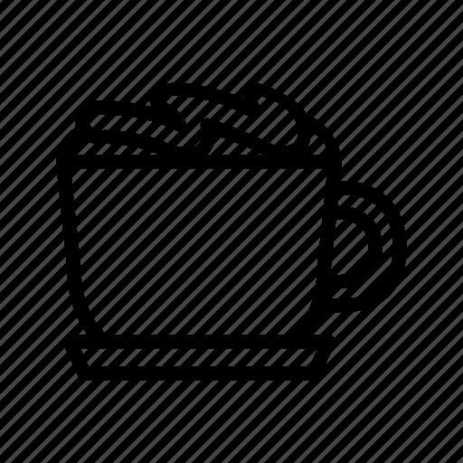 beverage, cafe, cappuccino, caramel macchiato, coffee, drink, macchiato icon