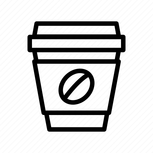 beverage, coffee, cup, disposable coffee cup, drink, paper cup icon