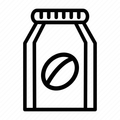 coffee, ground, ground coffee package, industrial, package, product icon