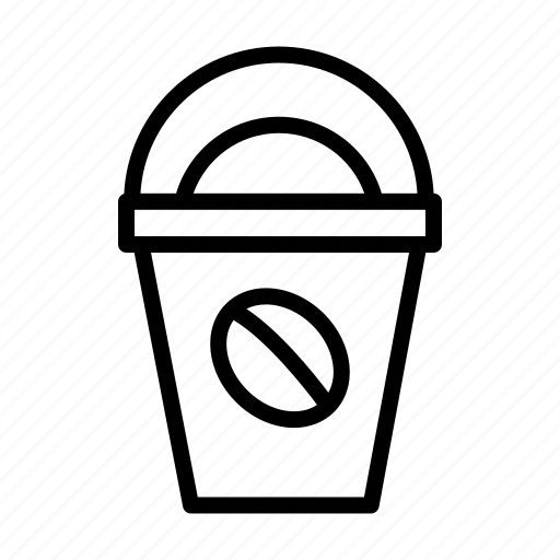 beverage, caffeine, coffee, cold, cup, drink, ice coffee icon