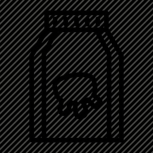 beverage, drink, healthy, ingredient, milk, product icon