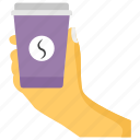 cafe concept, cappuccino, coffee, cup of coffee, espresso, holding coffee cup icon