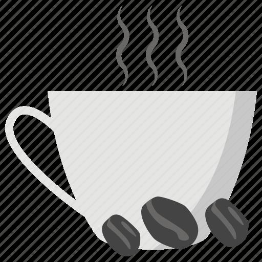 cafe concept, cappuccino, cup of coffee, espresso, hot coffee icon