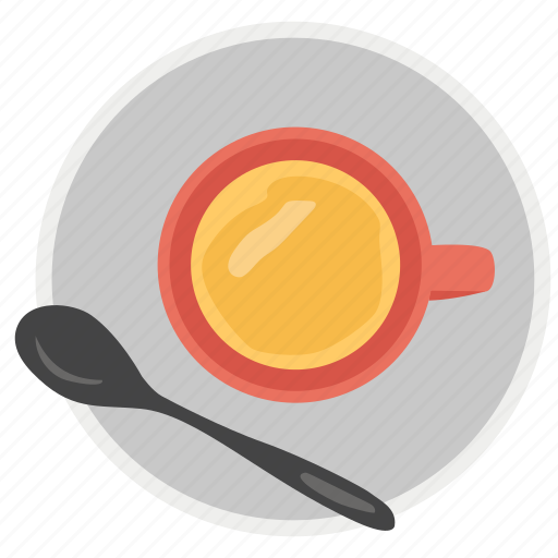 breakfast concept, cup and saucer, cup of coffee, hot coffee, hot tea icon