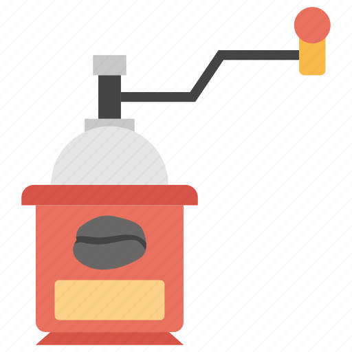 coffee grinder, coffee machine, kitchen appliance, manual grinder, precision coffee icon